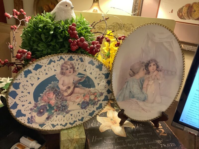 (2) Brundage~Art Work~Flue Covers~NEW~Gallery Graphics~Victorian~FREE SHIPPING~