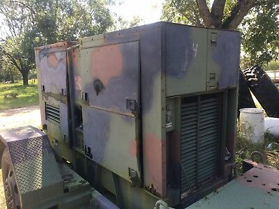 Mep-007b Trailer Mounted 100kw Generator 3 Phase 3306 Caterpillar Diesel 1700 Hr