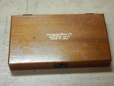 Nice Vintage Lufkin Inside Micrometer Set With Wooden Case Machinist Tool