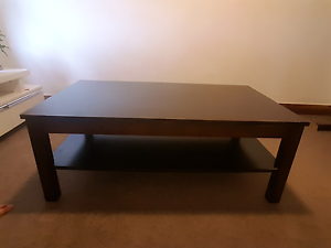 Rich brown coffee table with shelf Coogee Eastern Suburbs Preview