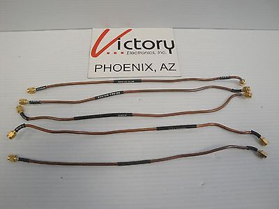 Lot Of 5 12 Microwave Rf Cables With Sma Connectors