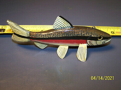 Richard Stammer RHS Stamped in lead Trout Spearing Decoy Folk Art Fishing Lure