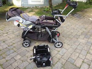 Poussette et siège d'auto pour bébé