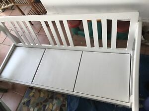 Wooden white bench seat Camira Ipswich City Preview