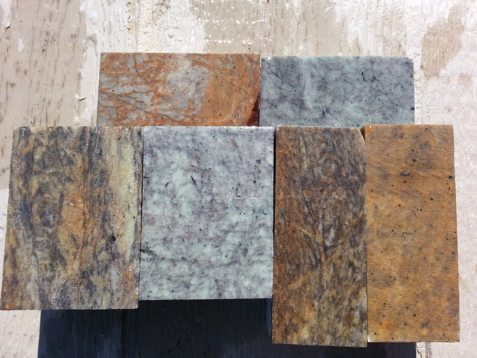 6 PIECES MIX SIZE Soapstone for carving, sculpture, block, slab, pipe