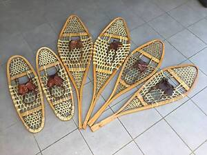 Vintage Canadian wooden snowshoes, Huron and Bear Paw Dickson North Canberra Preview