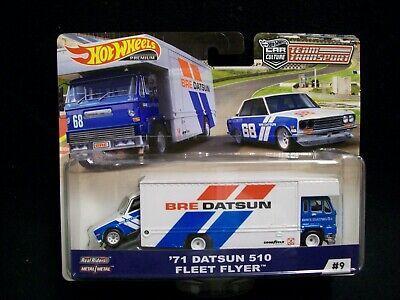 Hot Wheels Car Culture Team Transport 1971 BRE Datsun 510 & Fleet Flyer.