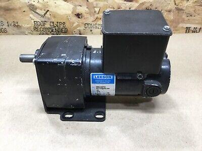 Leeson Motor M1125002.00 117 Hp 30 Rpm 90vdc Tenv 601 Dc Gearmotor 30a75pr2
