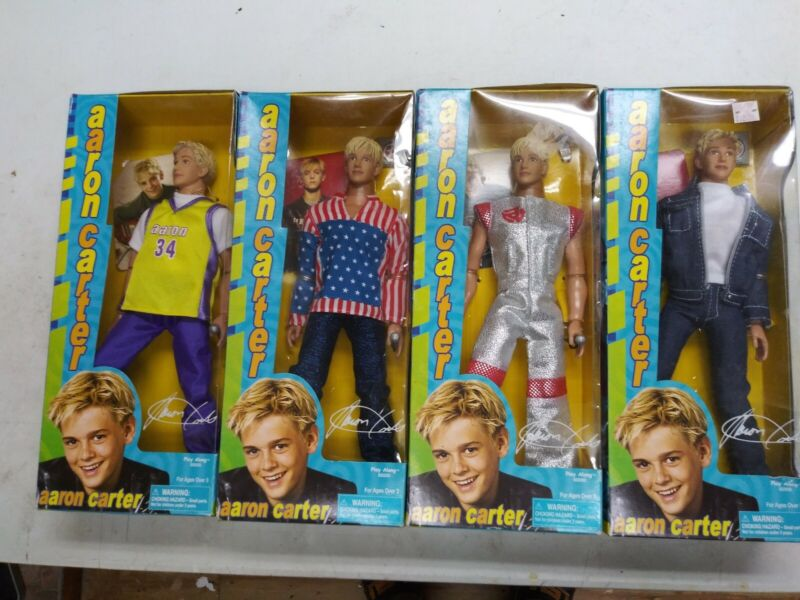 4 x NEW UNOPENED AARON CARTER PLAY ALONG 80000 DOLL LOT OF 4 BACKSTREET BOYS