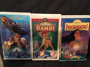 VHS Walt Disney Videotapes