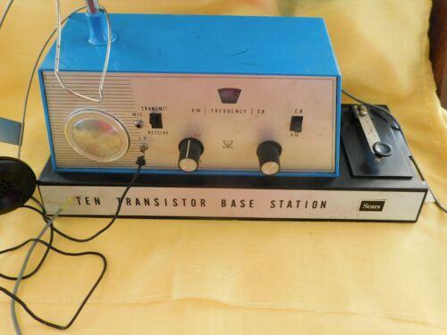 Sears 10 Transistor Base Station AM/CB Radio Transmittor Radio & Morse Code Key