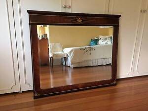 Mahogony  bevelled mirror with feature inlay Armadale Stonnington Area Preview