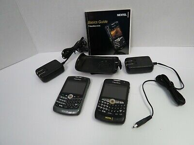 Nextel Sprint Blackberry 8350i Curve 2 Cellphones Bundle Parts Only  Sprint Nextel Blackberry Curve