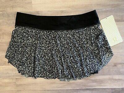 "NWT Lululemon Quick Pace Skirt - Size 6, Daisy Dust DDWM Liner 3.5"" Pockets"