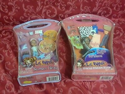 2 rare Lil Bratz Slumber Party yasmin and spring break blitz Sasha gift doll vtg