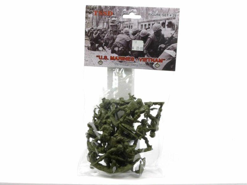 Toy Soldiers Of San Diego Us Marines Vietnam Set 29 Green Plastic Figures