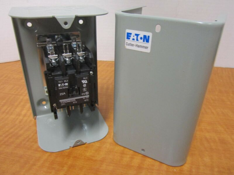 EATON Definite Purpose Contactor -C25DGD325B- Enclosed, 208/240VAC, 25A, NEMA 1