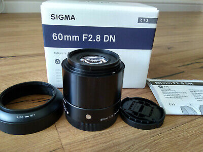 Sigma Art DN 60mm F/2.8 AF Lens For Sony E mount (Black) with pouch