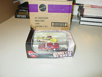 HOT WHEELS 1972 FUNNY CAR SUMMER BARRACUDA CHARGER + DVD DRAGSTER MOPAR GIFT