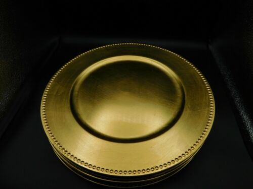 """8-14"""" GOLD LEAF CHARGERS FOR ELEGANT HOLIDAY MEALS. NO SUPPLY CHAIN ISSUES HERE!"""