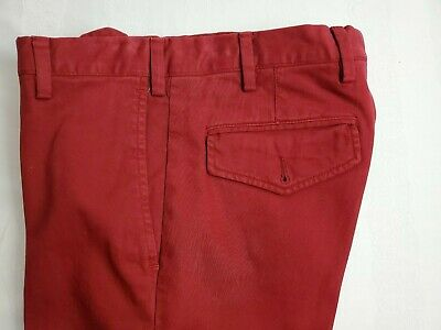 ISAIA Red Pants 30 46 FF NWT $425