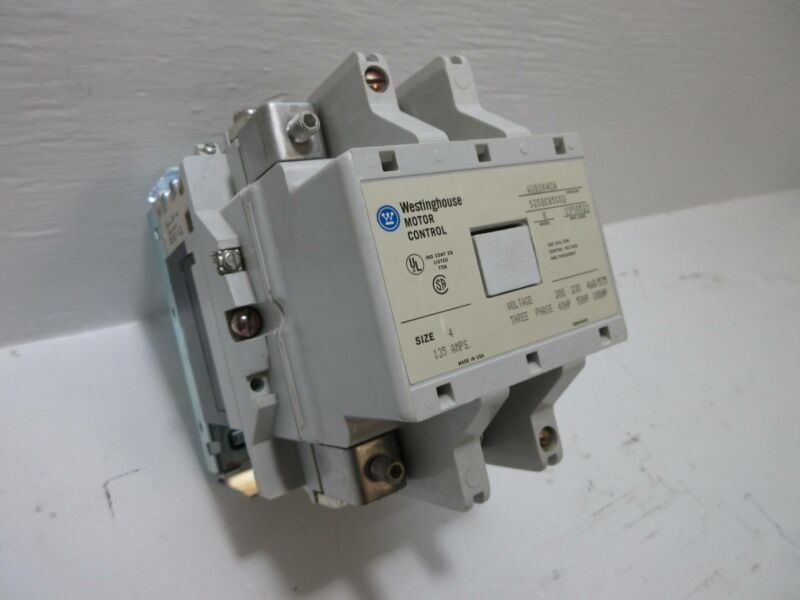 Westinghouse A201K4CA Size 4 135A Motor Contactor 120V Coil 100HP Model K