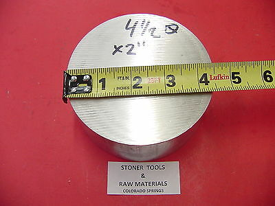 4-12 Od Aluminum 6061 Round Rod 2 Long T6511 4.50 Od Lathe Bar Stock
