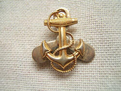 STERLING SILVER NAVAL SHIP PIN