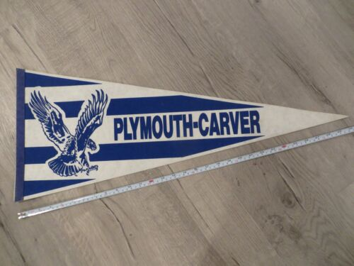 Plymouth Carver Massachusetts High School Mass MA Felt Pennant Flag Football
