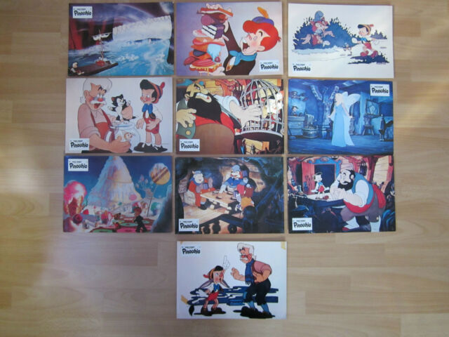 Aushangfotos * 10 AHF * Pinocchio * WA 1978 * Walt Disney