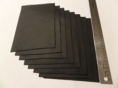 Upholstery Leather Scrap 6 x 9 inches Black 1 Piece ()