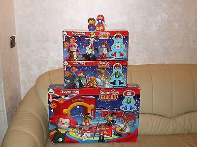 Supermag Circus Set Cirkus Zirkus + 2 Erweiterungen 94Teile ab 2 JahreNEU / OVP