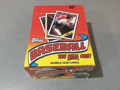 1988 Topps wax box NEW bubble gum baseball cards (36 Sealed Packs) FREE SH Bubble Gum Wax