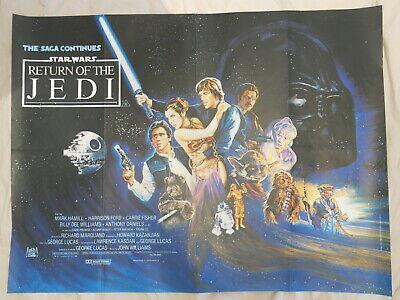RETURN OF THE JEDI ORIGINAL BRITISH QUAD FILM POSTER 1983 RARE  STAR WARS