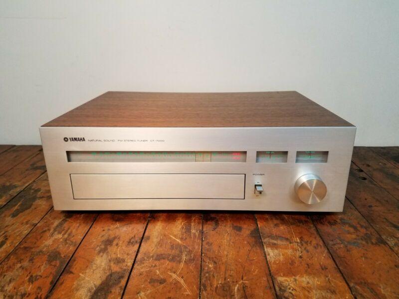 Vintage Yamaha CT-7000 Audiophile Analog FM Stereo Tuner with New Bulbs