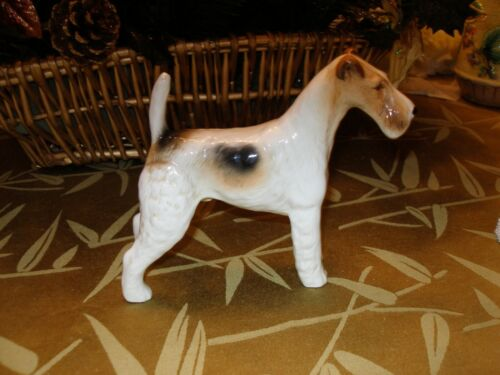 """5 1/2"""" H Beswick Romulus Wire haired terrier figure"""
