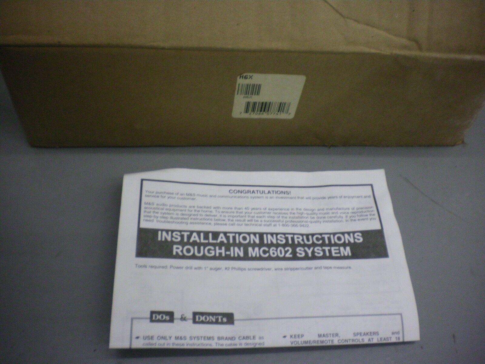 M & S Systems H6X Rough-in Box w/Transformer for MC602 Intercom System