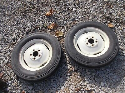 Massey Harris 33 Tractor Rims 5.00 X 15 Sl 4ply Front Carlise Tires Mh