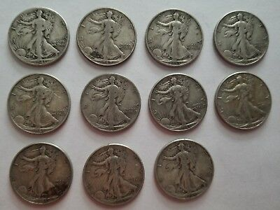 Lot of 12 US half dollar 1941-D 1942 1943 1944 1945 1946