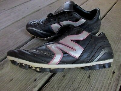 1be287c39 Mitre Black Silver Pink Soccer Cleats Shoes US Size 4 Youth Girls