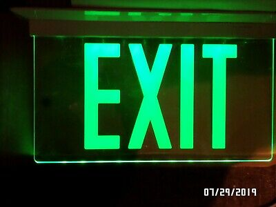 Isolite Elite Led Emergency Exit Sign Elt-ac-g-1c-wh-rc-uc