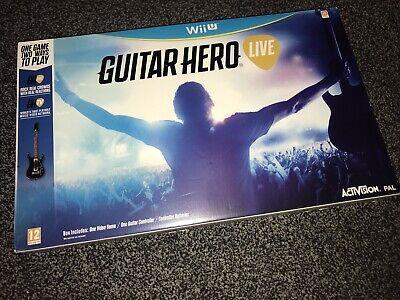 Nintendo Wii U Guitar Hero Live Brand New And Sealed Music Rhythm Game