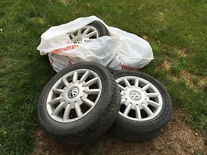 "VW 16"" Rims with Tires"