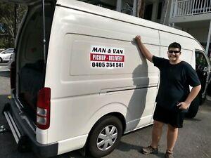 Man and Large Clean Van