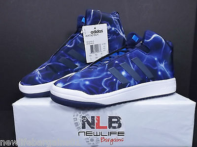 Adidas Veritas Mid K Mens Size 7 Blue/White/Pattern Fit Foam ORIGINALS S31582