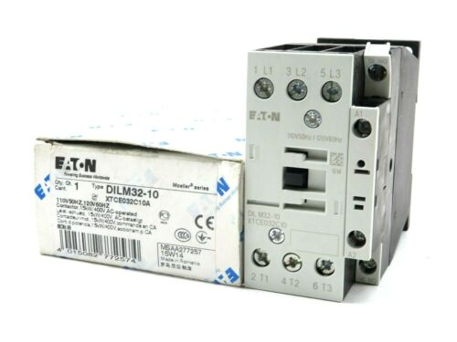 NEW EATON CORPORATION DILM32-10 CONTACTOR 110/120V 50/60HZ DILM3210