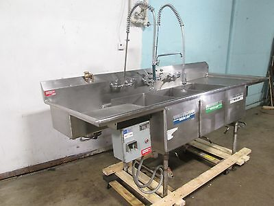American Delphi Commercial Hd 3 Compartment Seafoodfish Prepprocessing Sink