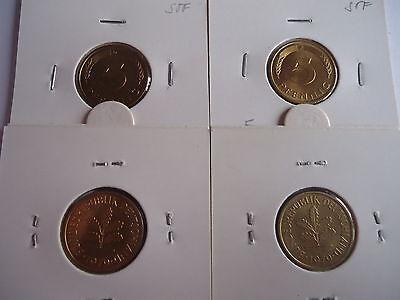 4x  5 Pfennig 1980 DFGJ bankfrisch