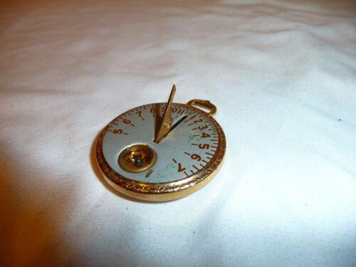 Antique Sundial 1920s ROBBINS CO. Pocket Sun Dial Watch Compass Yellowstone Logo