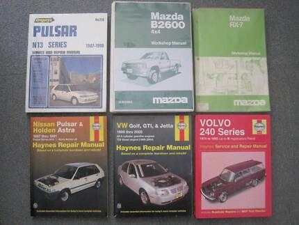 Various Car Workshop / Repair Manuals